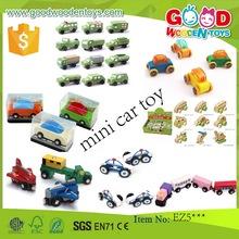 EN71 hot sale toy vehicle wooden mini car toy OEM/ODM educational mini car toy for children