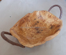 Factory Price Retro Wooden Root Fruit Basket