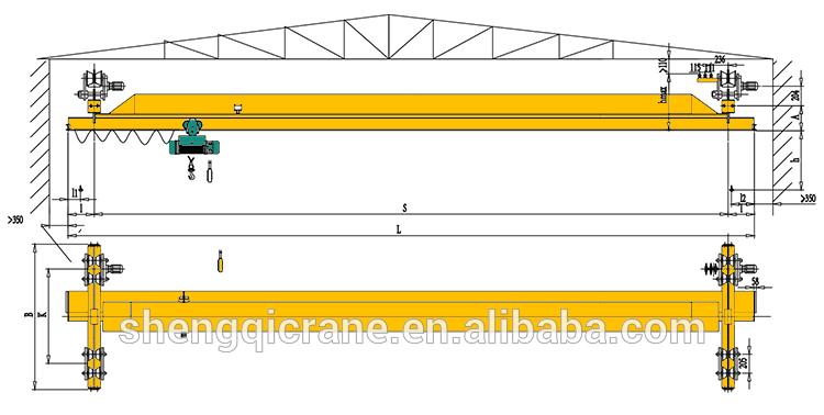 Overhead Crane Bridge Design : New design under slung suspension crane overhead bridge