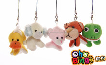 Different style custom frog plush keychain soft toys