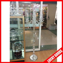 wedding decorative fashionable tall crystal candle holder