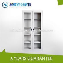 gabinetes de metal de almacenamiento de documentos 2 con puerta de vidrio para la visualización de los bienes