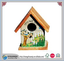 Colorful painted cute wooden bird cage