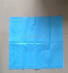 PE film and non-woven material disposable incontinence mattress cover