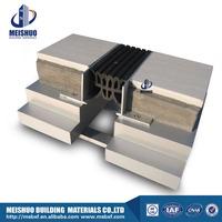 Aluminum base Best rubber gap filler driveway expansion joint