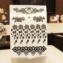 black ink tattoo sticker body art jewelry tattoo stencil