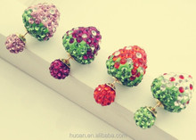 Rhinestone Ball strawberries earring for many color 2015 new season design