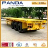 PANDA 40ft 3 axle flatbed truck trailer for loading container house