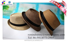 Cheap Wholesale Straw Hats for Promotion Fedora Hat Paper Straw Hats Bulk Buy from China