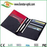 Travel Wallet and Passport Cover Black Leather Ideal for Men or Women
