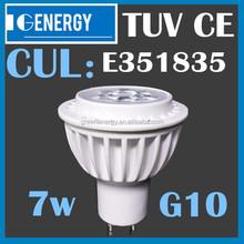 led bulb 2800k 230 volt led spot light High power 7w gu10 sharp led