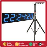 outdoor large led digital sports marathon race clock/ timer single or double sided Large Sports Clocks