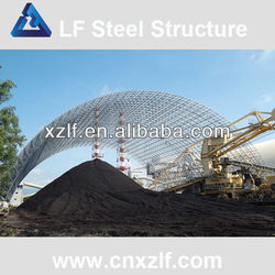 barrel vault arched steel coal storage thermal power plant