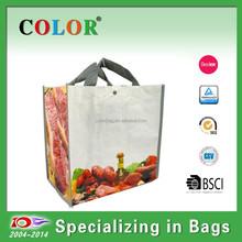 shopping bag for Take away food pp woven bag & Bopp PP woven lamination bag for food