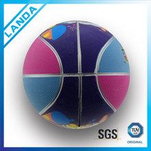 rubber full printing basketball balls