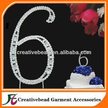 Birthday party number cake toppers/Wedding Cake Topper Rhinestone Number for Wedding Anniversary Birthday Party