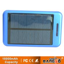 Portable power bank,mobile phone chargers Solar power bank 15000mah