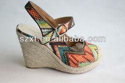 2014 fashion women shoes women wedge sandal shoe lady high heel wedge sandal shoes summer 2014