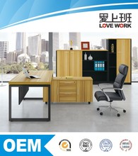 modern luxury hot sale modern office furniture table executive L-shaped manager office desk with Storage /cabinet