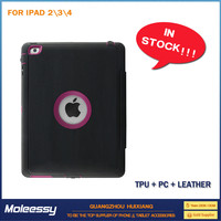 Superior flip leather case for for ipad 234