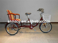 Adult pedal tricycle with rear comfortable seat SH-T122