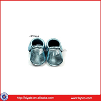 soft leather baby shoes crib moccasins MOQ 50 Pairs