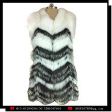 YZY1362 2014 Latest hot selling design Italian style women's fox fur knitted fur coat