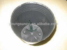 flexible dark black plastic nursery pots soft pot for small plants