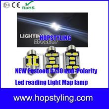 No error canbus High Quality 36mm 6SMD 5730 LED C5W Festoon Dome Reading Light Bulb Car license plate light