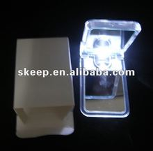 2012 new design professional promotion gift for lady Hot sale led make up mirror with light for promotion