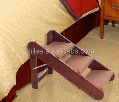 en bois chien escaliers pour lit pour animaux de compagnie escaliers autres produits d 39 animal de. Black Bedroom Furniture Sets. Home Design Ideas