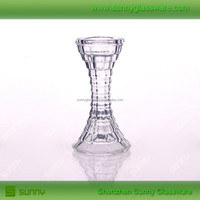 Fancy floor standing glass candle holder for church decoration