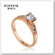 China wholesale fashion jewelry 18k gold plated ring design for women