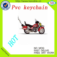 custom motorcycle logo soft 3D rubber soft pvc keychain