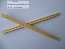 bamboo sushi chopsticks with paper sleeve packing