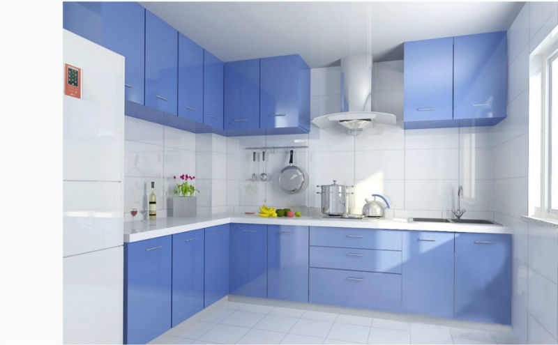 European glass kitchen cabinets - Modern Kitchen Cabinet European Style Colored Glass