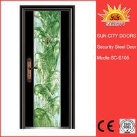 Metal Double Door Exterior Security Door for Entrance SC-S105