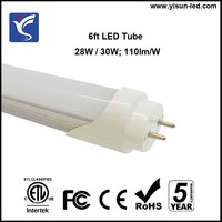 1800mm 1.8M LED tube 28W natural white 4000K 4100K replace 50W fluorescent tube