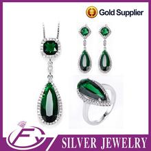 Alibaba italian designs zirconia stone 925 sterling silver fashionable jewelry