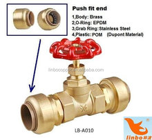 brass ball and angle valve series for hdpe pipe