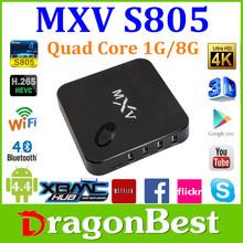 Amlogic S805 Quad Core MXV HD 1080P RJ45 Newest XBMC Kodi Dual 2.4GHz/5GHz WIFI 3G Android 4.4 MXV Smart TV Box