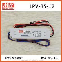 LPV-35-12 Meanwell 35W 12V led strip power supply