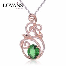 Saudi Gold Green Stone Different Types Of Pendant For Chains Jewelry FP031