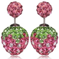 Simple Design Strawberry Shape Cheap Crystal Earrings