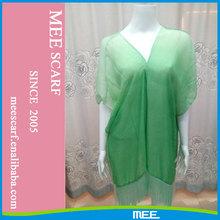 grass green color beach shawl