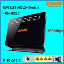 Kasda KW58183 150Mbps ADSL2+ Modem Router with Broadcom Chipset