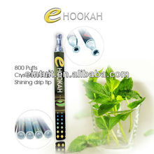 800 puffs e hookah, electronic disposable e shisha e hookah/ e hookah shisha