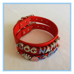 Pet supplies for dogs slide letters name pet dog collars