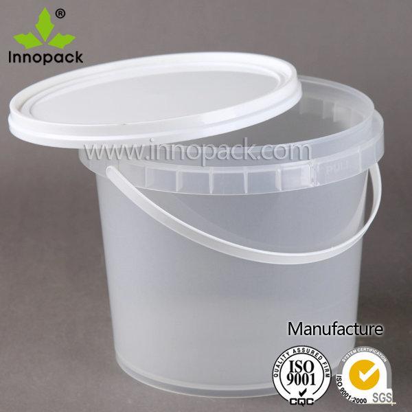 2l Food Grade Petit Plastique Transparent Seau Avec