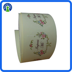 OEM Permanent Round Sticker Labels, Printing Self Adhesive Clear Transparent Avery Sticker